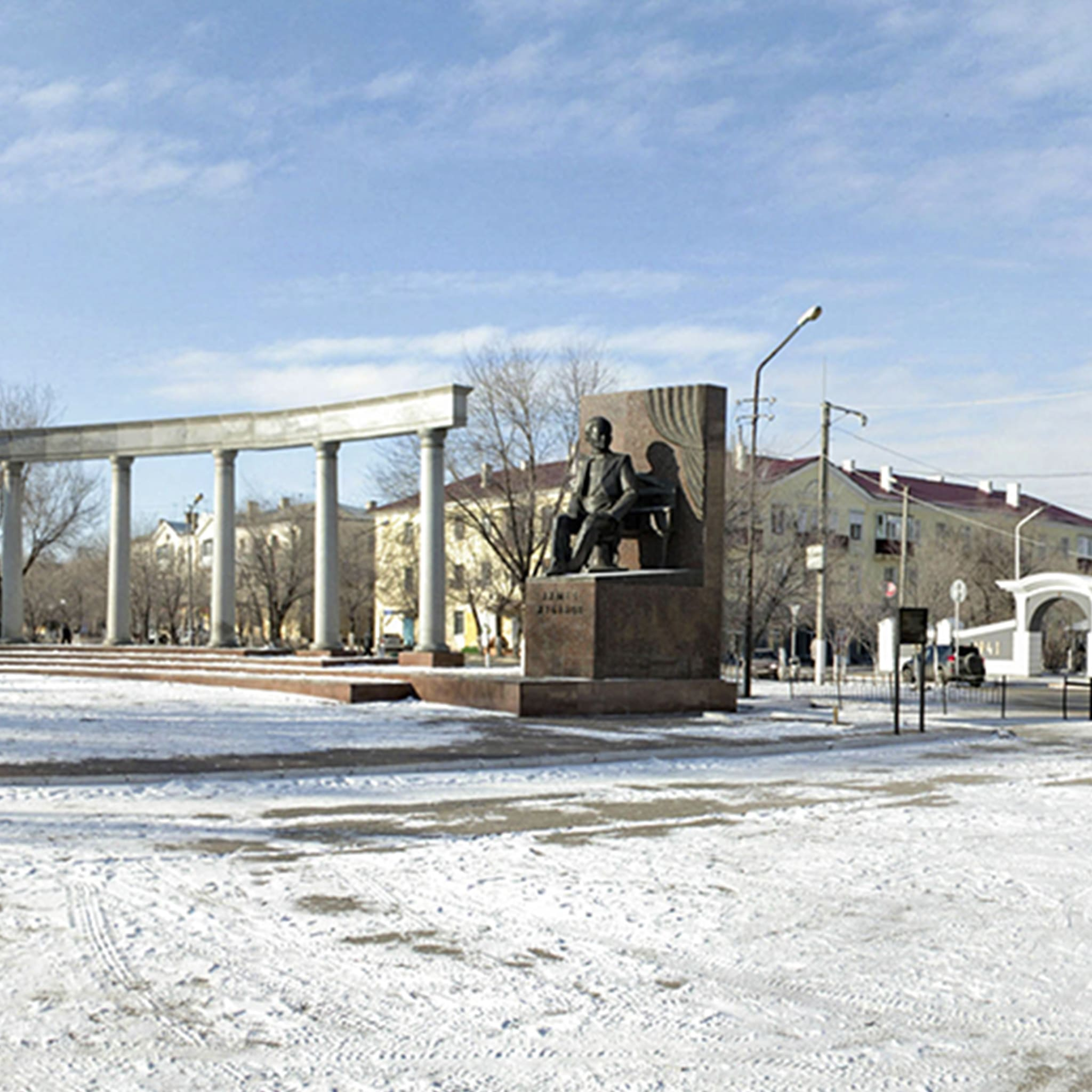 Комплекс памятник композитору А.Жубанову и памятник-бюст Г.Жубановой